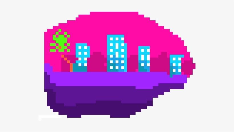 Vaporwave profile. Png pixel image transparent