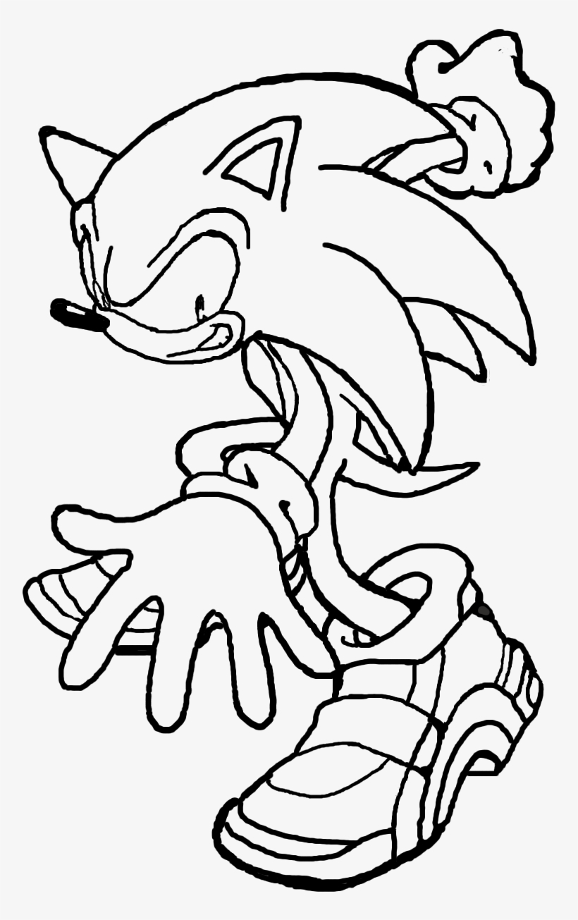 Sonic Outline By Biggamer11 On Deviantart Sonic Adventure 2 Coloring Pages Png Image Transparent Png Free Download On Seekpng