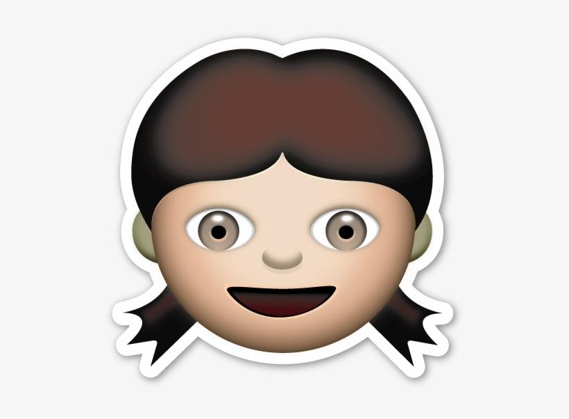 Pinterest Emojis And Smileys - Little Girl Emoji PNG Image
