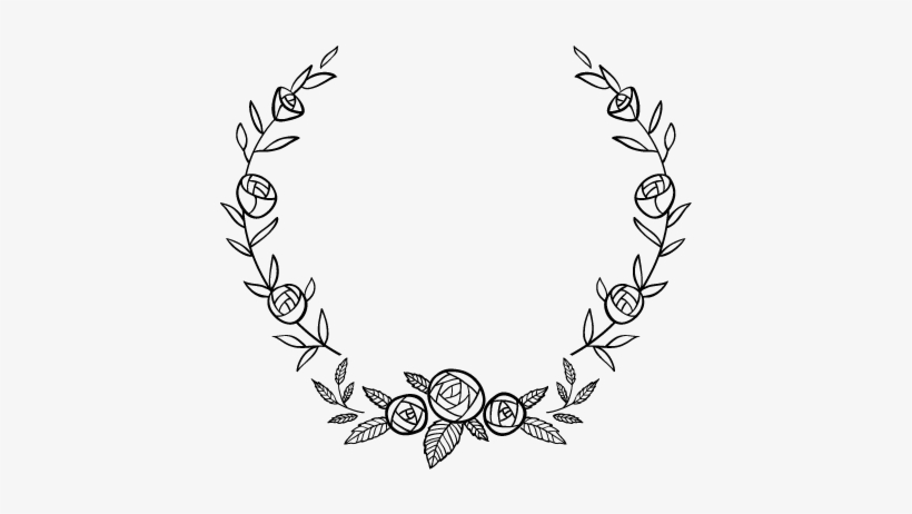Flower Circle Border Black And White Png Image Transparent Png