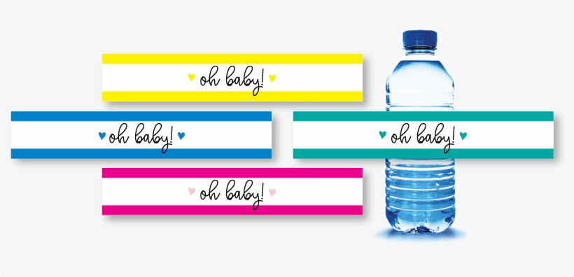 This is a picture of Free Printable Water Bottle Labels for Baby Shower in black white printable