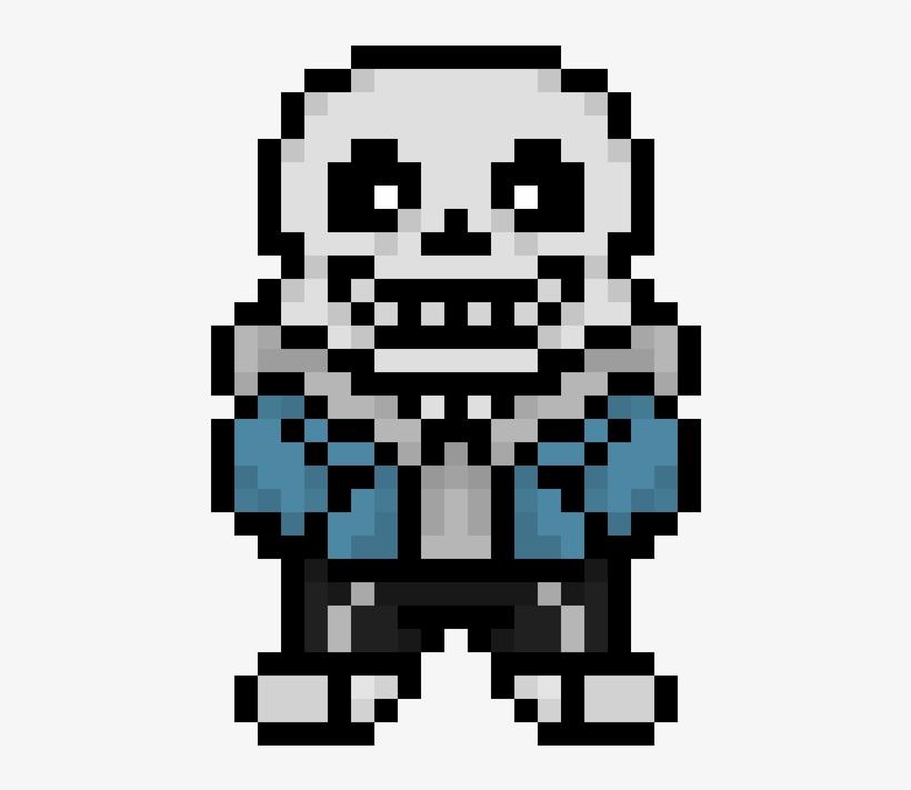 Custom Overworld Sans Sprite - Pixel Art Minecraft Sans PNG