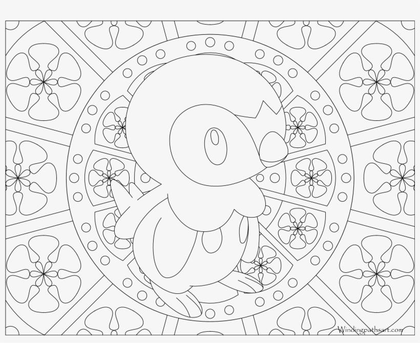 393 Piplup Pokemon Coloring Page Mandala Coloring Pages Pokemon Mew Png Image Transparent Png Free Download On Seekpng