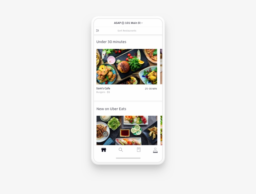 Find Food You Love From Local Restaurants And Chain - Uber Eats App