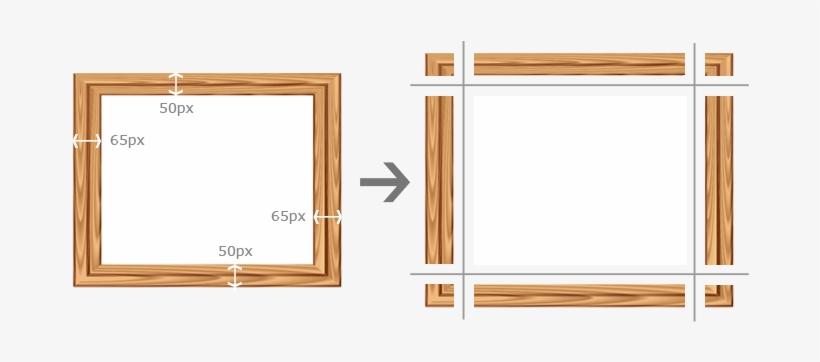 Css Border-image Frame Split - Css Frame PNG Image | Transparent PNG