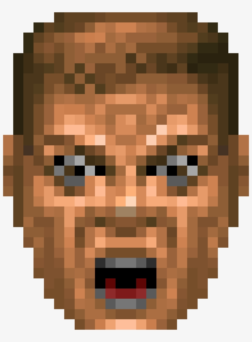 Bigouch - Face Doom Guy Sprite@seekpng.com