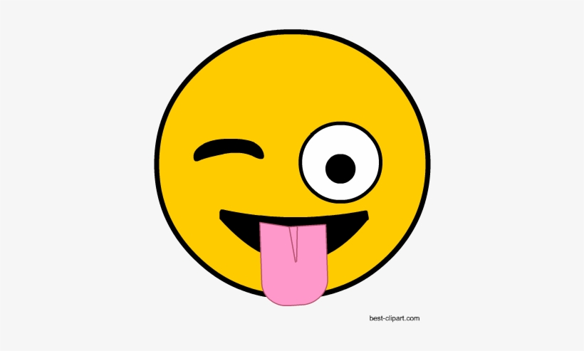 photograph about Free Printable Emoji Faces identify Winking Emoji Facial area With Tongue Clip Artwork - Booth Props