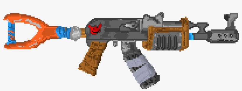 Rust Ak47 - Pixel Art Fortnite Gun PNG Image | Transparent