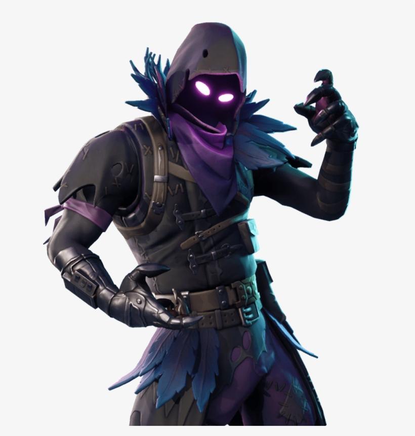 Fortnite Outfits Skins Files - Raven Fortnite PNG Image
