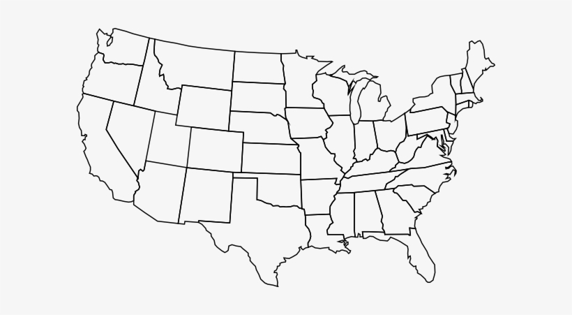 Blank Us Map Hi - Blank Map Of Us Large PNG Image | Transparent PNG ...