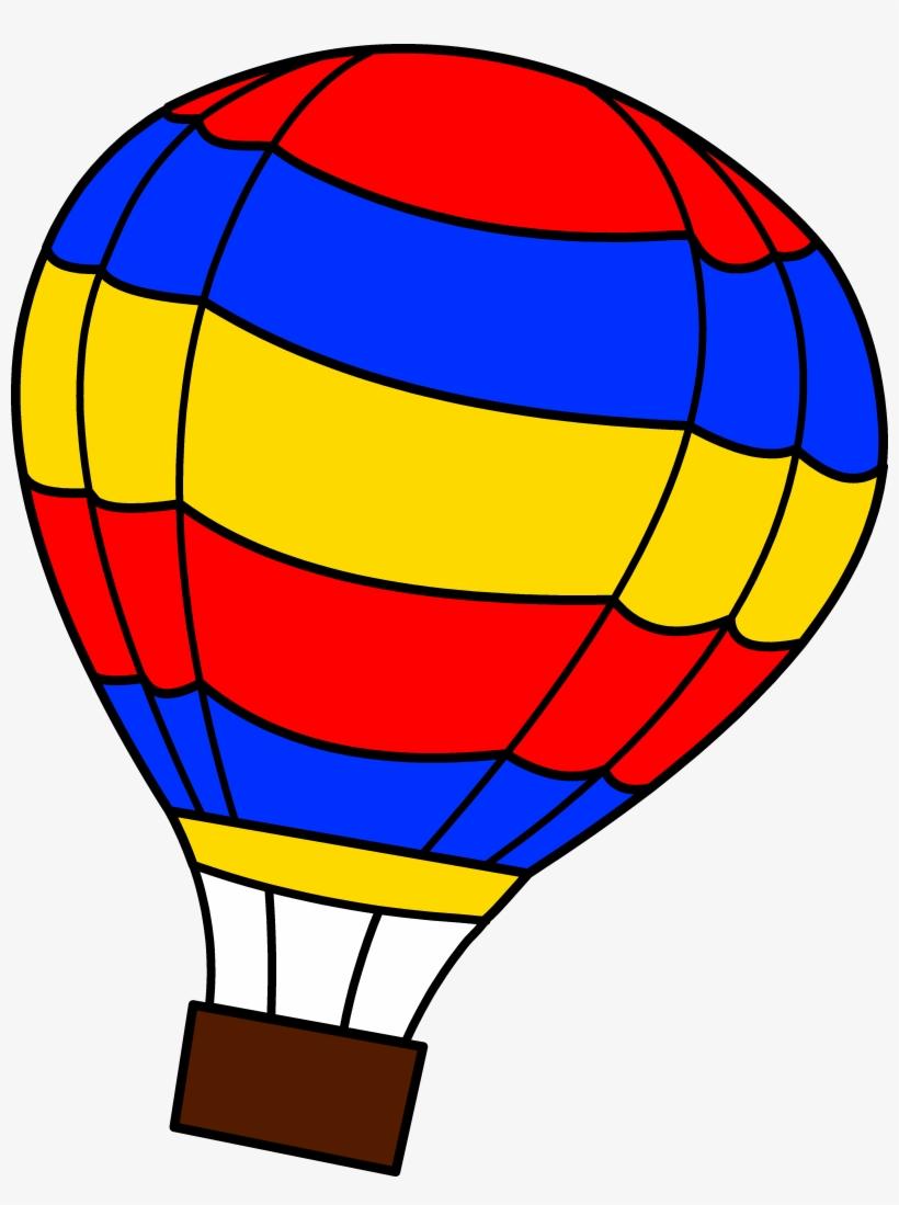 Simple Colorful Hot Air Balloon - Air Balloon Clip Art PNG ...