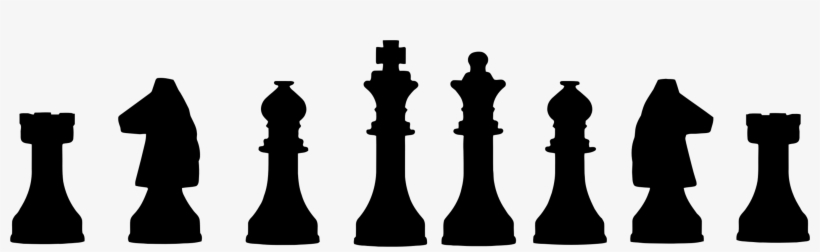 Chess Piece Queen Knight Rook - Chess Pieces Lined Up PNG