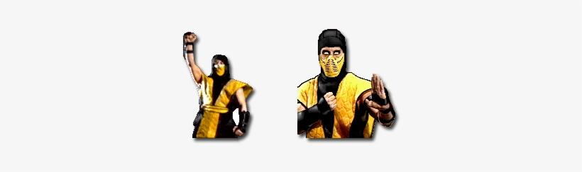Mortal Kombat 1 And Mortal Kombat Scorpion Png Image