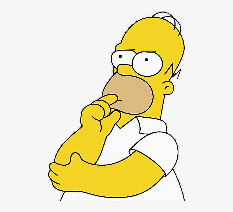 Homero Pensando Png - Cartoon Person Looking Confused PNG Image |  Transparent PNG Free Download on SeekPNG