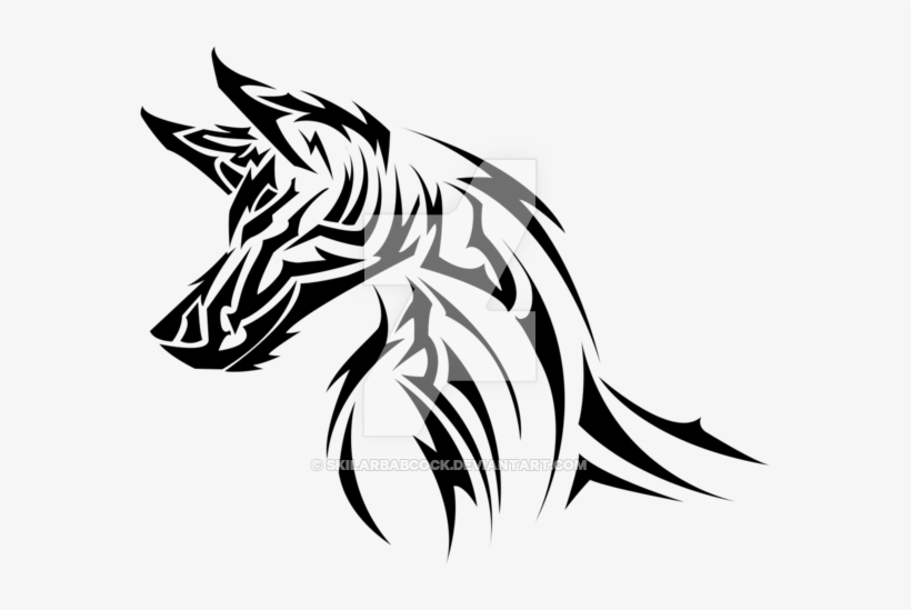 Tribal Wolf Png - Wolf Tribal With Transparent Background