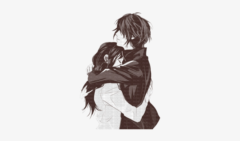 Hiyori X Yato Love Cartoon Couple Hugging Png Image Transparent