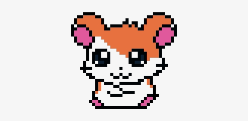 Hamster Pixel Art Animaux Mignons Png Image Transparent