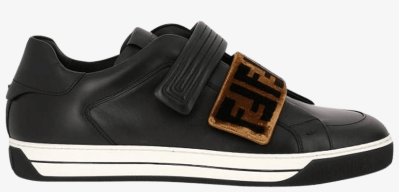 c2394bfae4 Fendi Velcro Leather Low Top - Shoe PNG Image