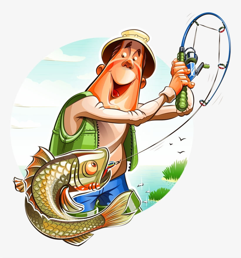 Cartoon Fishing Man Png And Clipart Cartoon Fisherman Png Png Image Transparent Png Free Download On Seekpng