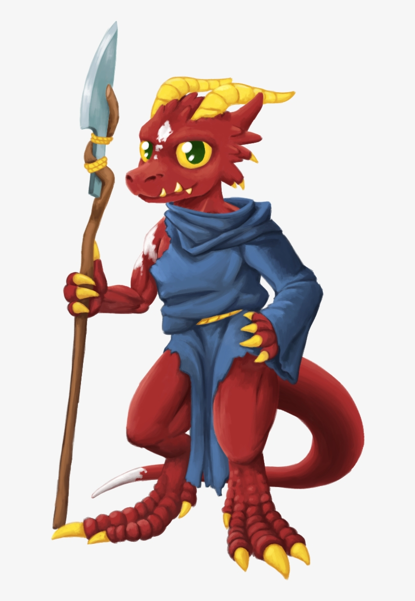 A Red Kobold Wearing A Torn Up Wizard Robe Holding Cartoon Png Image Transparent Png Free Download On Seekpng