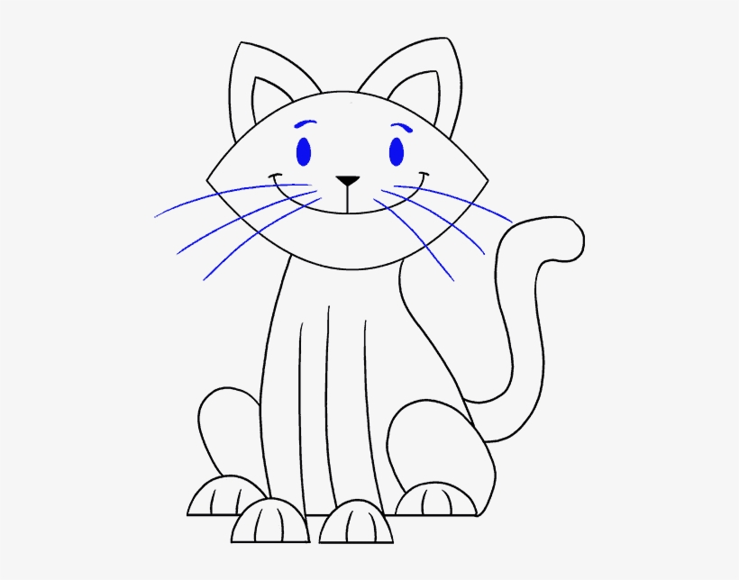 How To Draw A Simple Cat Cat Drawing Easy Png Image Transparent