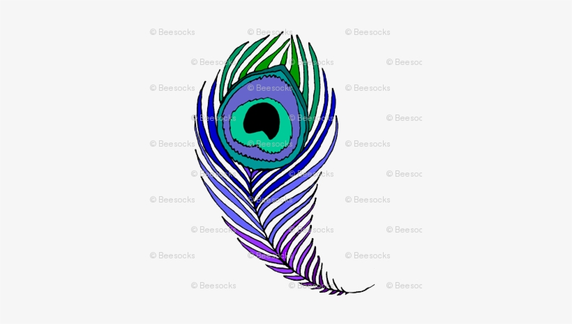 Very Large Peacock Feather - Peacock Feather Colouring Pages PNG Image  Transparent PNG Free Download On SeekPNG