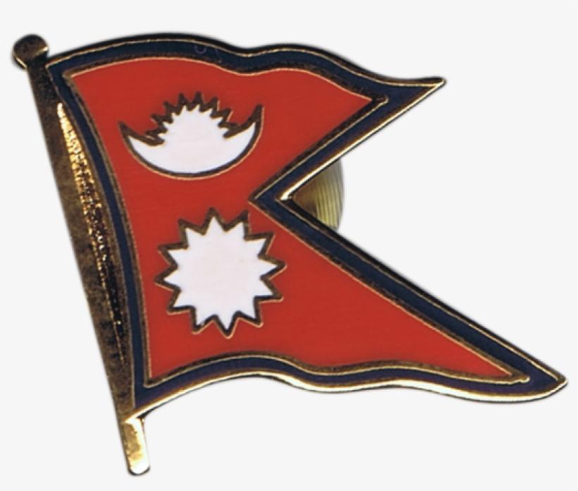Nepal Flag Pin, Badge - Nepal Flag PNG Image | Transparent