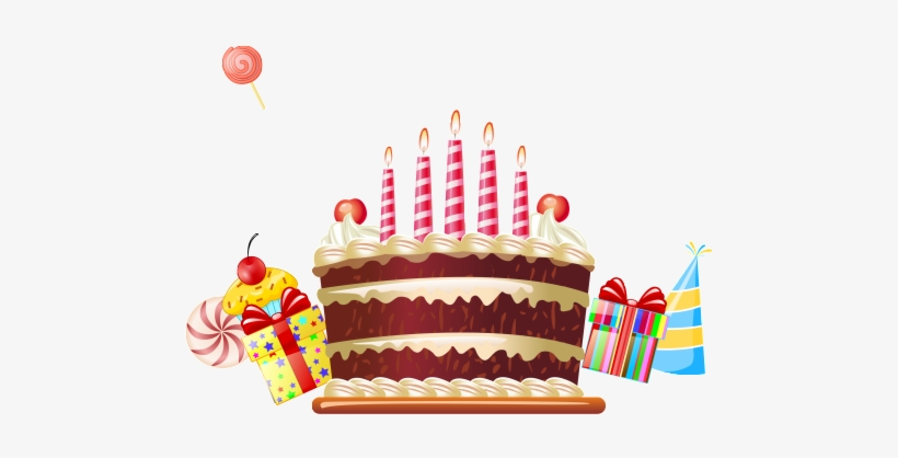 This Graphics Is Hand Drawn Cartoon Birthday Cake Decoration Free Vector Birthday Png Image Transparent Png Free Download On Seekpng