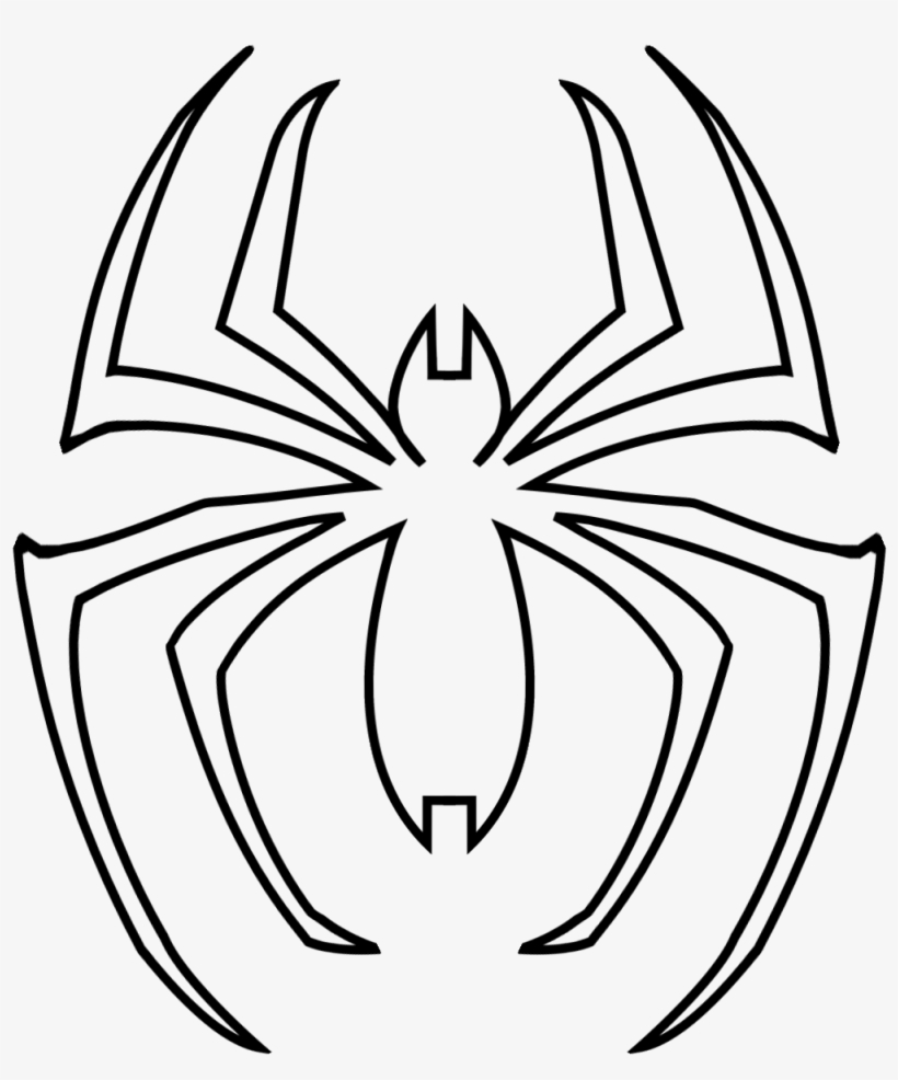 Spider Man Spider Logo Template Araña De Spiderman Para Colorear
