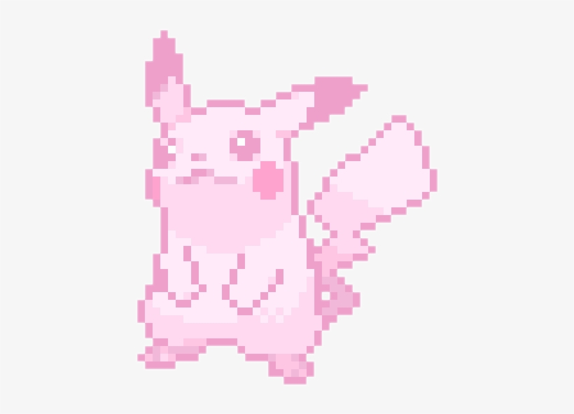 Cute Kawaii Pixel Pastel Pokemon Pikachu Cute Transparent