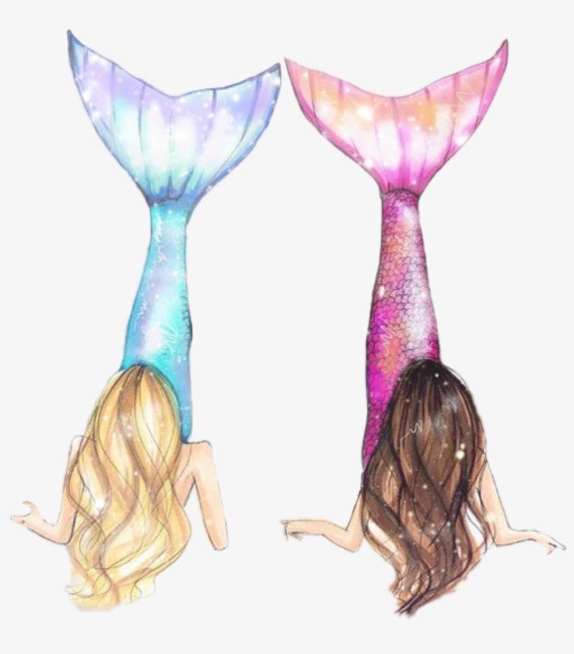 Marmaid Marmaid Women Girl Water Dibujos De Mejores Amigas Png
