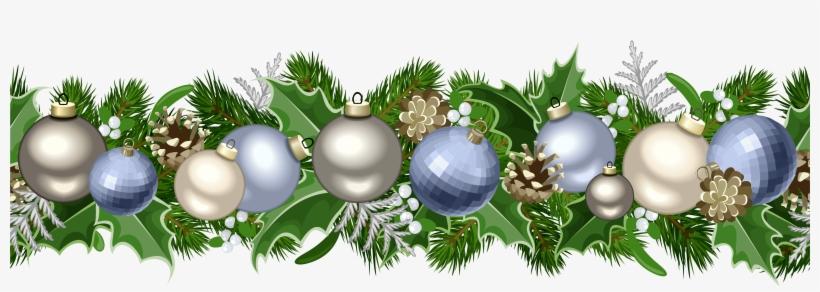 Free Christmas Garland Clip Art Black And White Free Christmas