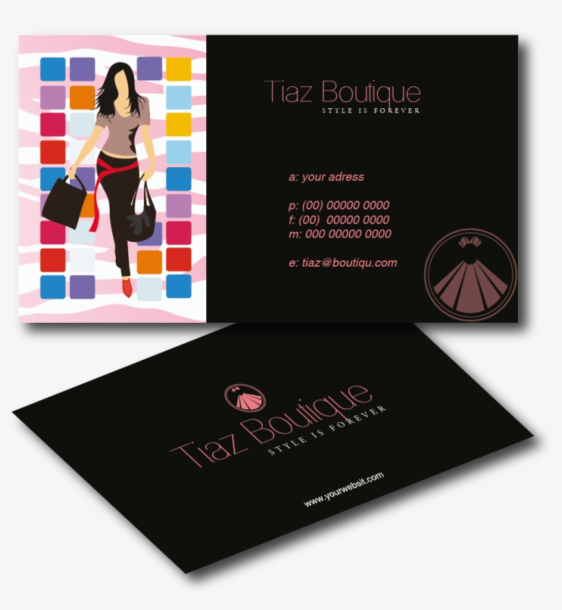 Boutique Business Card Design For Tiaz