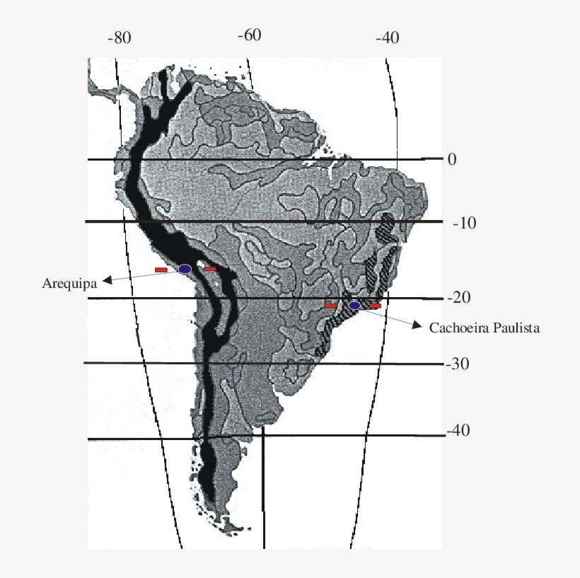 Map Of South America Showing The Location Of The Andes ...