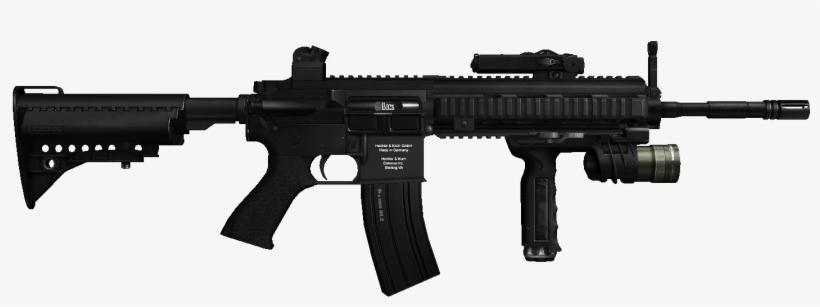 M416 Assault Rifle - Machine Gun No Background@seekpng.com