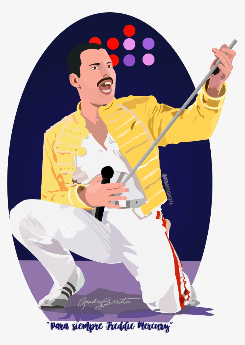 freddie mercury ilustracion png image transparent png free download on seekpng freddie mercury ilustracion png image