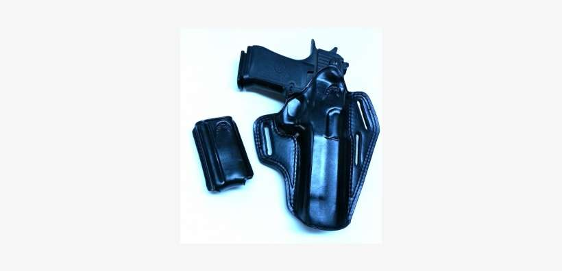 Leather Pancake Owb Holster With Extra Mag Pouch For - Masc