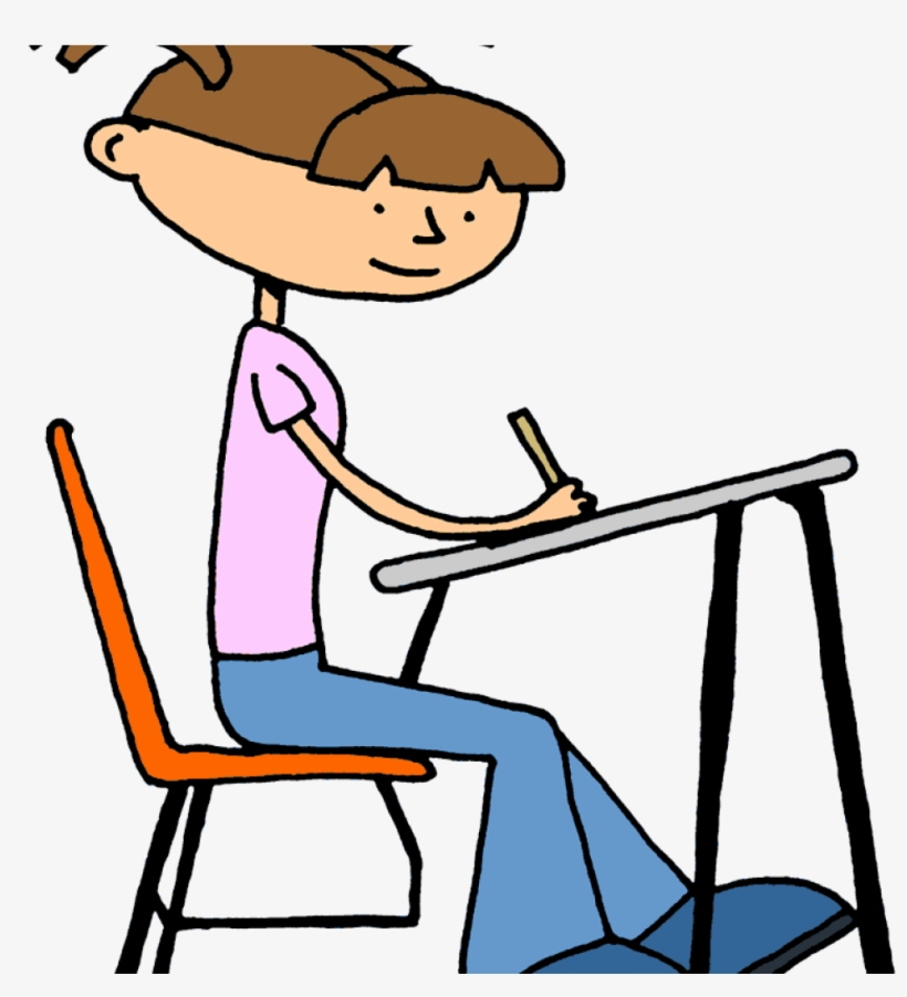 Writing baby. Student working clipart hatenylo