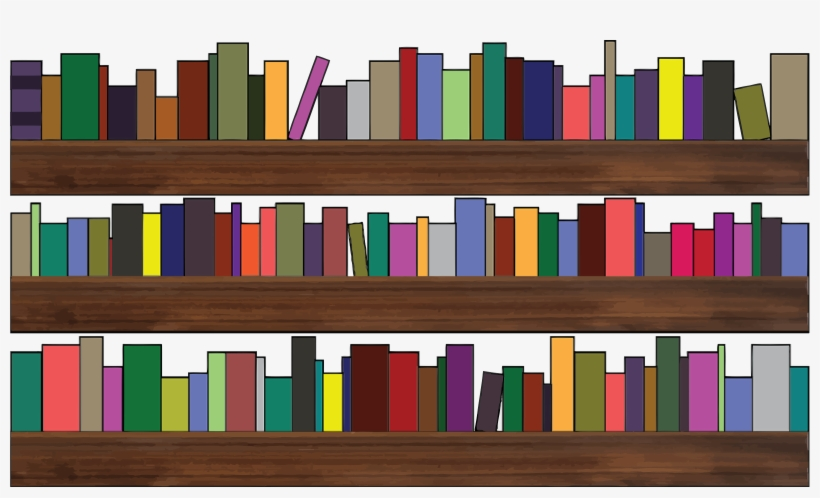 Books library. Clipart royalty free on