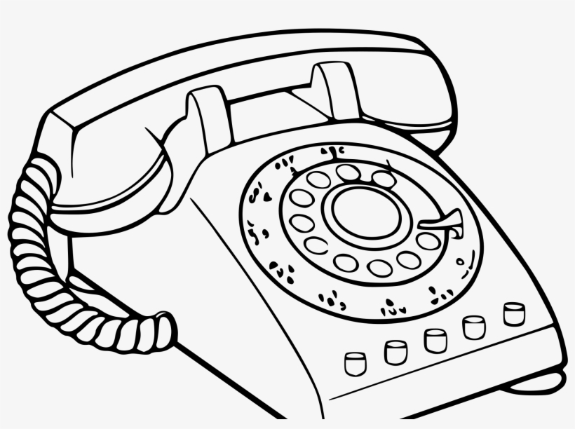 Old Phone At Getdrawings - Old School Phone Drawing PNG
