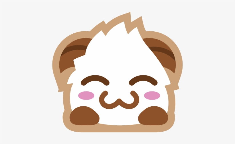 Poro Sticker Blush Emoji League Of Legends Discord Png Image Transparent Png Free Download On Seekpng