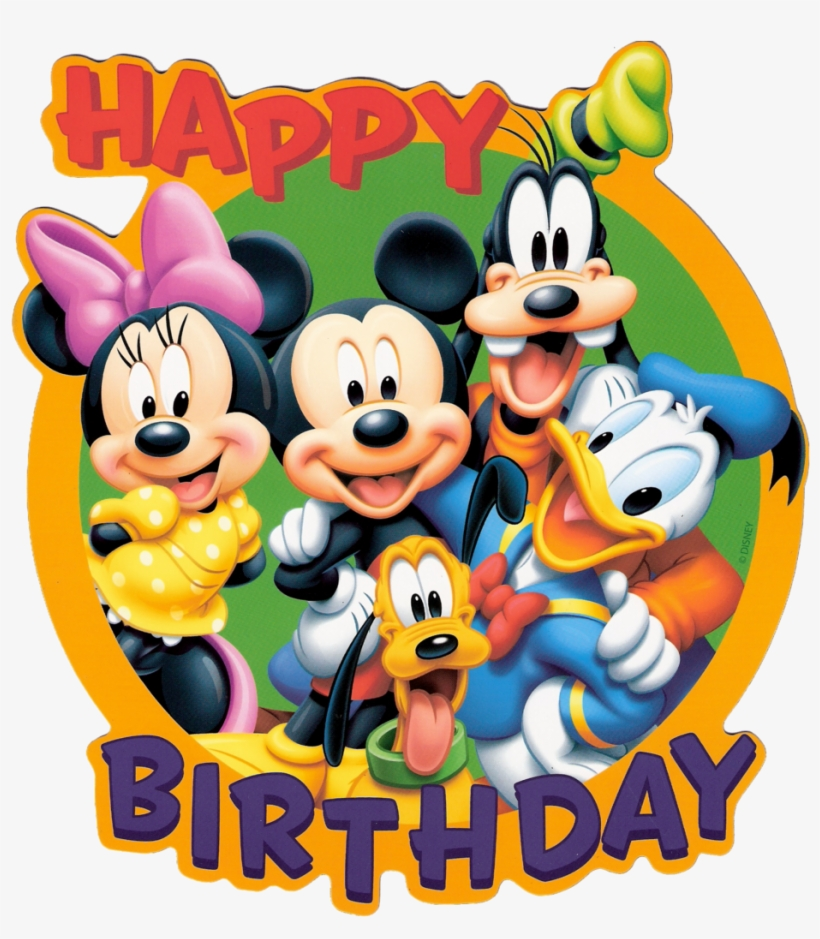 Happy Birthday Mickey Mouse Png Happy Birthday With Cartoon Png