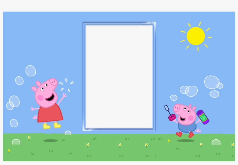 Visit Peppa Pig Party Invite Template Png Image Transparent Png