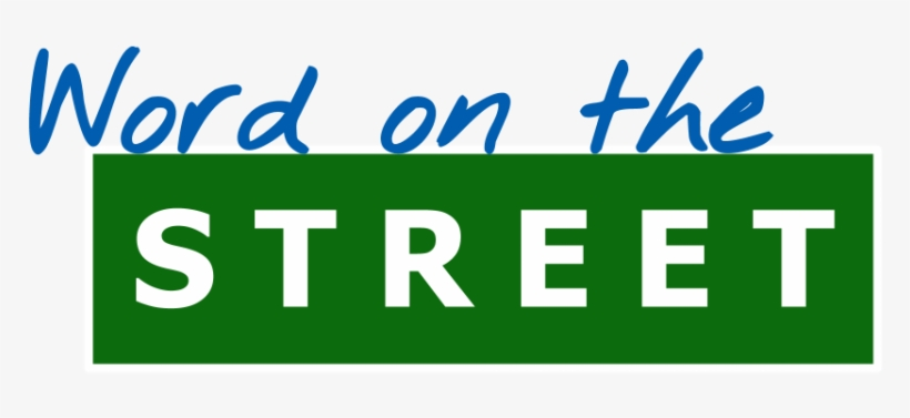 Image result for word on the street clipart
