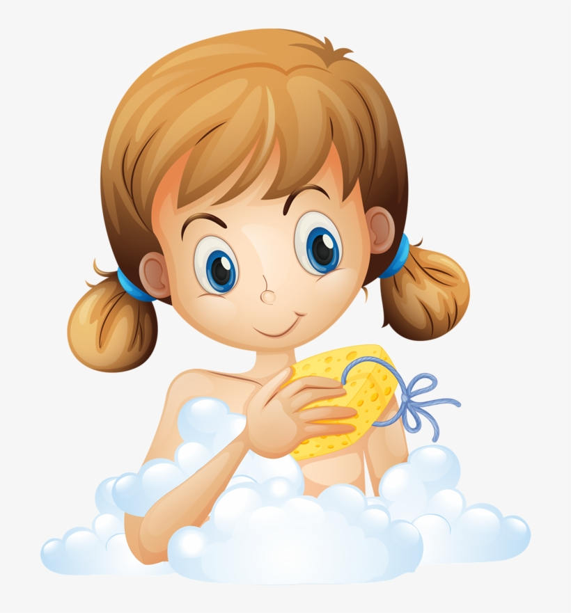 Clipart Kid Bathroom Taking A Bath Clipart Png Png Image