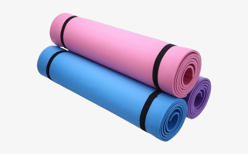 Eva Foam Yoga Mat 3 Colours Exercise Mat 6 Mm Png Image Transparent Png Free Download On Seekpng