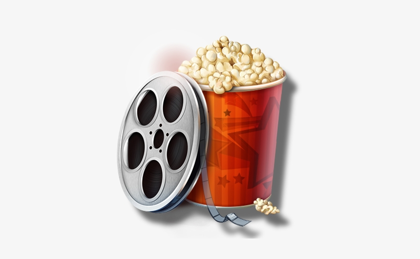 Movie Reel And Popcorn Png Movies Png Image Transparent Png Free Download On Seekpng