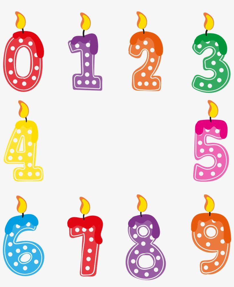 Birthday Present Clipart Numbered
