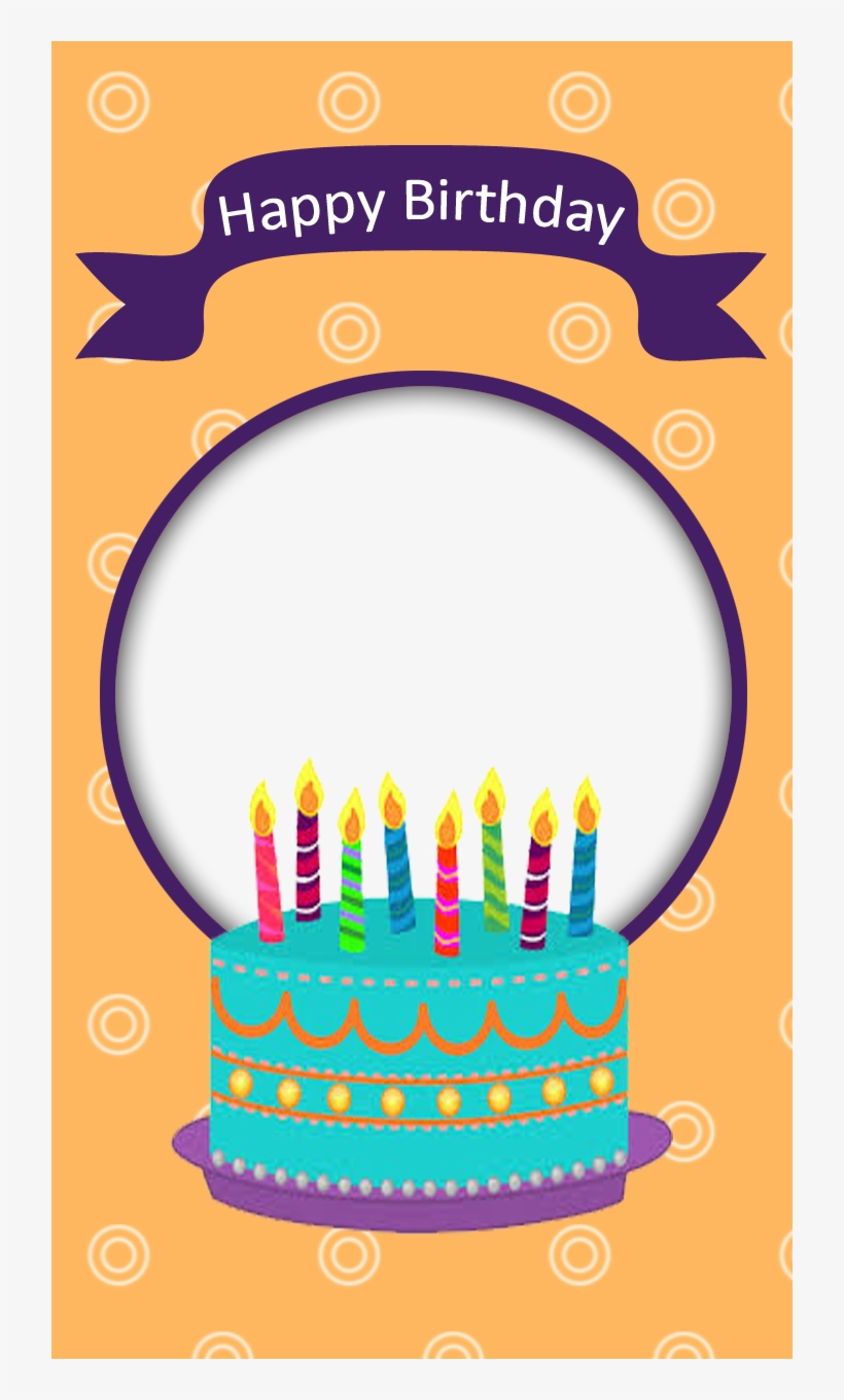 Birthday Frame With Cake - Birthday Cake With Frame PNG Image
