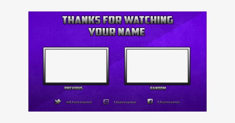 Youtube Banner Template Photoshop - Youtube Endcard Template Paint
